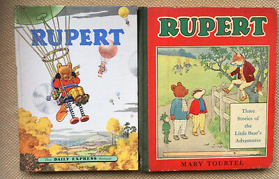 Rupert Annual 1957 Daily Express Vintage Plus Rupert Story Book Free!