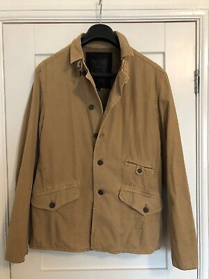 a0d630bc60 FIRETRAP MEN S CREAM Knitted Fur Lined Jacket Size Large - EUR 3