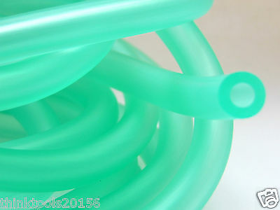 Motorcycle Scooter Fuel Pipe Green I.D 7 mm x O.D 12 mm x 1 m x 3 mm