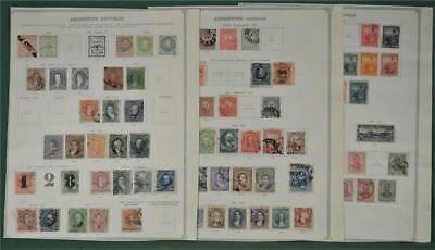 Argentina Selection Of Stamps Early Issues On 5 Pages  (K129)