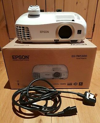 Epson EH-TW5300 LCD Home Cinema Projector - White
