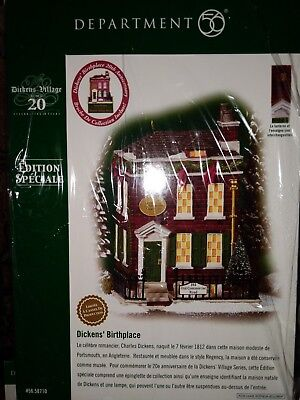 DEPARTMENT 56 DICKENS Birthplace 58710 Retired 2004 Village Special Edition