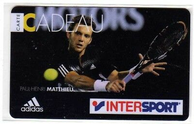 Jolie carte cadeau INTERSPORT Paul Henri Mathieu voir photo