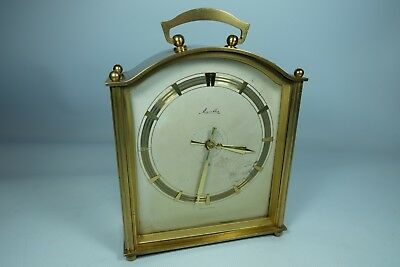 Old Vintage Brass MAUTHE Bell Chime German Wind-up Mantel Carriage Clock