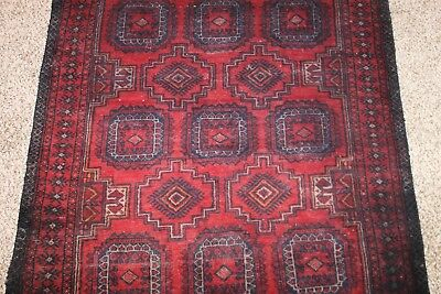 """Authentic Hand Knotted Vintage Persian Wool Area Rug 60"""" X 40"""""""