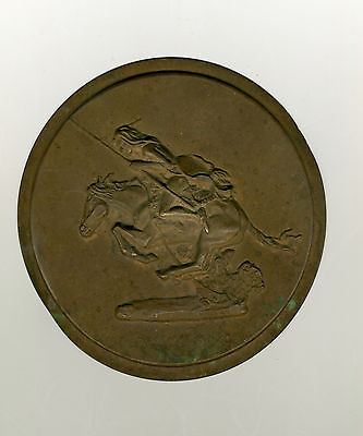 """VINTAGE Frederic Remington  """"The Cheyenne"""" signed plaque scarce"""