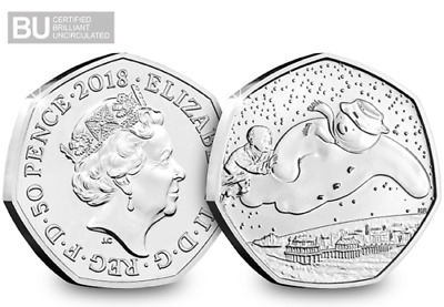 2018 UK The Snowman CERTIFIED BU 50p UNC