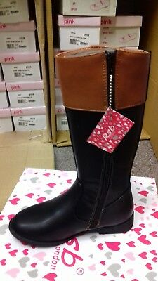 girls/infant brown/black long boots faux leather parties. winter, sizes 11,12, 1