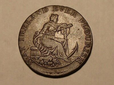 Ireland 1794 halfpenny Dublin Female with anchor / Register stove DH351