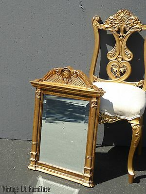 Vintage Federal Style Gold Gilt Wall Beveled Mirror