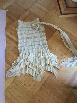 OLD Antique VTG VICTORIAN STYLE Ruffled Dress FLAPPER STYLE