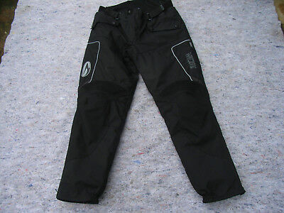 "RICHA MENS TEXTILE TROUSERS SIZE XL, 34"" to 36"" Measured. Short fit."