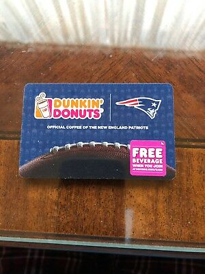 2015 Dunkin Donuts New England Patriots Gift Card No Value