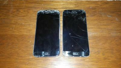 2 Samsung S7 Phones FOR PARTS REPAIR  WILL NOT TURN ON....