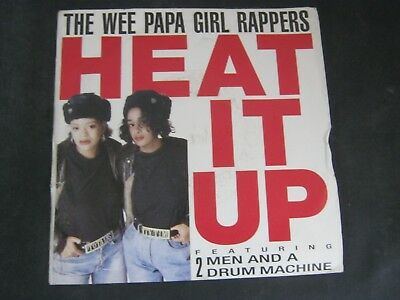 """Vinyl Record 7"""" Single THE WEE PAPA GIRL RAPPERS HEAT IT UP (B)"""