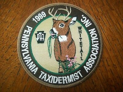 """Pa Pennsylvania Game Commission  Patch 1999  4"""" .whitetail Taxidermist Assoc."""