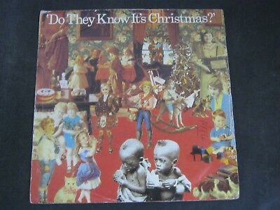 """Vinyl Record 7"""" Single BAND AID DO THEY KNOW IT'S CHRISTMAS? (D)"""