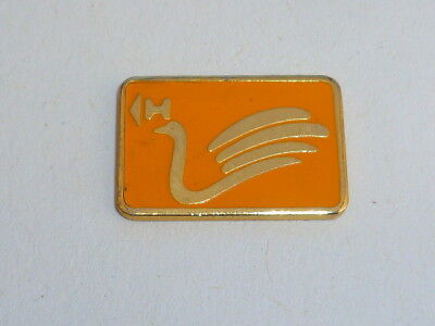 Pin's CARTE A PUCE, CYGNE, ORANGE  01