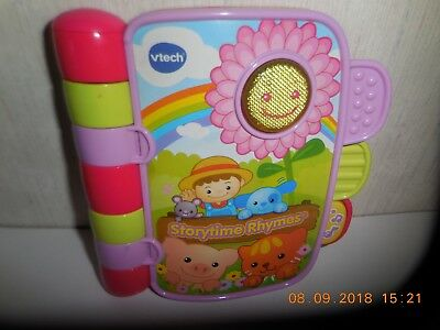Vtech Storytime Rhymes Electronic Book Plays Musical Songs
