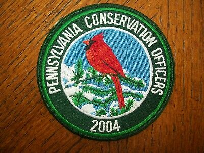 Pa Penna.  Game Fish  Commission Patch  2004 Cardinal   Conservation Officers