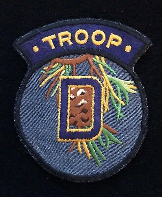 """Maine ME State Police Patch - Highway Patrol TROOP """"D"""" Patch **Vintage Rare**"""