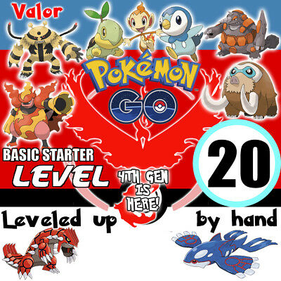 Pokemon-Go-Level 20 Account Hand Made! Kyogre Groudon Valor Email Changeable