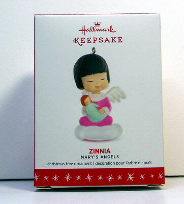 """HALLMARK ORNAMENT: """"ZINNIA, #29th in the MARY'S ANGELS series"""" - 2016"""