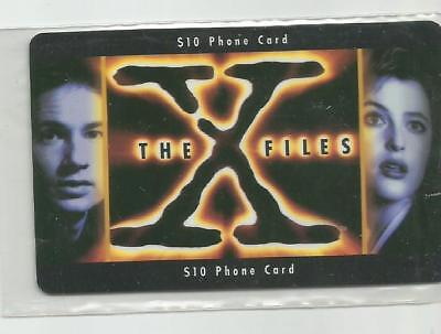 X Files $10 Phone Card  - Frontier  1996 Muldur & Scully