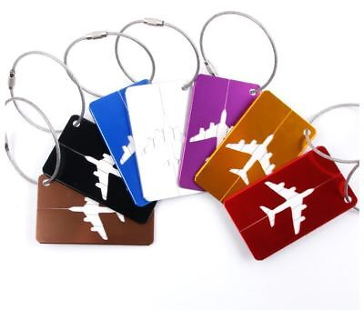 5 Aluminium Luggage Tags