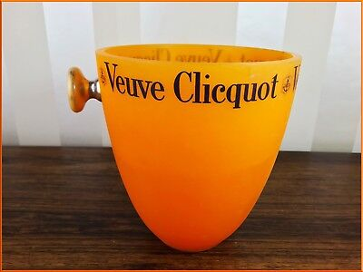 Vintage Large Veuve Cliquot Champagne Cooler Ice Bucket Wine Orange Display