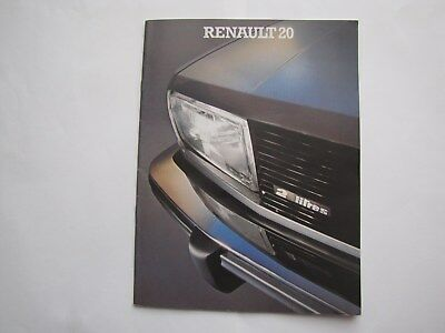 Catalogue  Commercial Renault 20  Annee Modele 1980