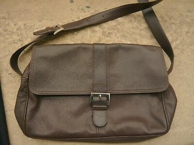 argento Longchamp Dark Grained Eur Satchel Orecchini Bag Brown Leather in PRSxPw8