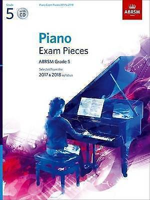 Piano Exam Pieces Sheet Music Book & CD ABRSM Grade 5 from 2017 & 2018 S126