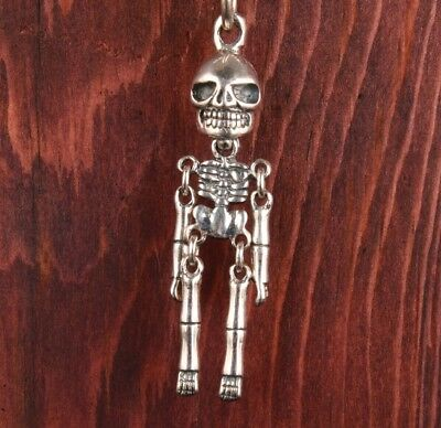 Rare China True 925 Silver Pendant Statue Skeleton Exorcist Limited Edition