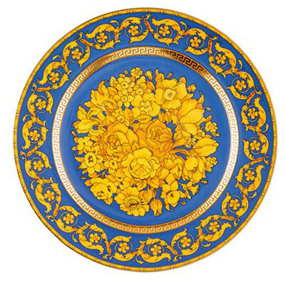 Rosenthal Versace 25Th Years 2000 Floralia Blue 22Cm Plate Rrp$270
