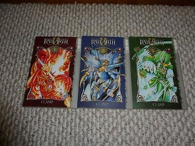 Magic Knight Rayearth Vol. 1-3 English Manga by Clamp published by Tokyopop.