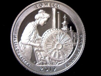 2019 S 25C Proof Lowell National Historical Park MA State Quarter FREE SHIPPING