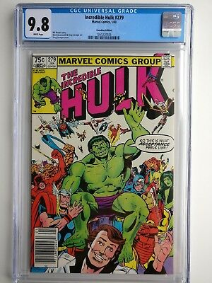 1983 Marvel Incredible Hulk #279 CGC 9.8 WP .75 Canadian Newsstand Price Variant