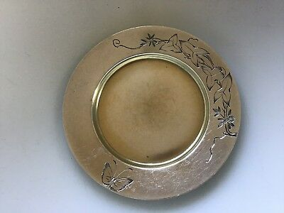Victorian Tiffany & Co Sterling Silver 1800s Butterfly Vine Small Dish Tray