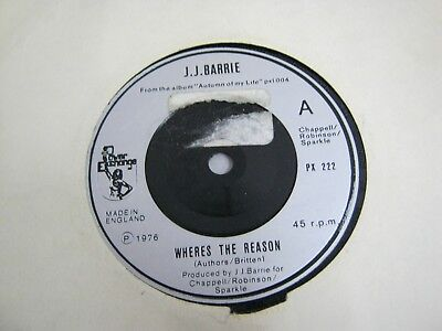 "Vinyl Record 7"" Single J.J.BARRIE WHERE'S THE REASON (H)"