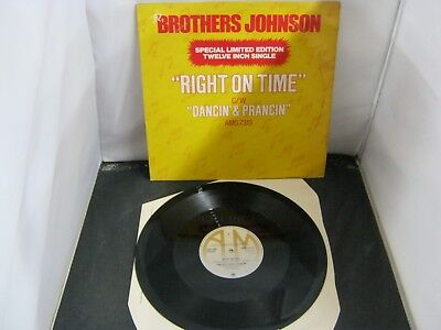 """Vinyl Record 12"""" Single THE BROTHERS JOHNSON RIGHT ON TIME (90)"""