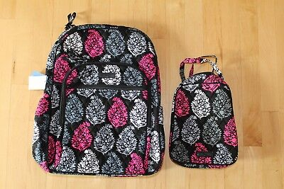 NEW Vera Bradley Large Campus Tech Backpack Lunch Bunch Bag Northern Lights Set