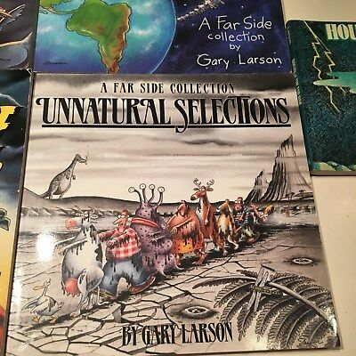 Lot of 5, The Far Side, Gary Larson Curse, Chickens, Unnatural, Hound,Cows