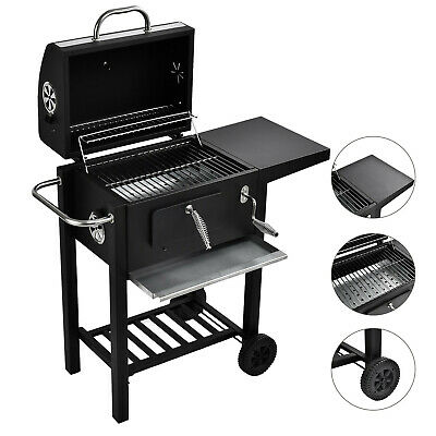 Large Outdoor Charcoal BBQ Steel Grill Garden Barbecue Smoker Cooking Party