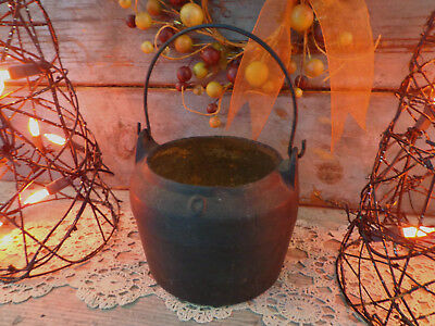 antique cast iron black witch's cauldron primitive footed Halloween wicca occult