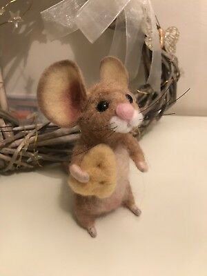 Needle felted mouse Wesley Ooak Animal Gift handmade With Love By Indy 🐭