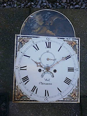 14X20  inch 8DAY   c1830 LONGCASE   CLOCK dial + movement    bell  OF utoxeter