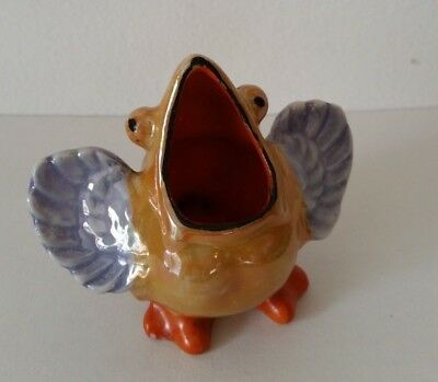 Made in japan ceramic bird open mouth toothpick holder