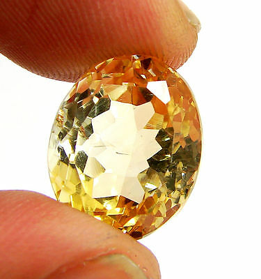 14.10 Ct Natural Citrine Loose Gemstone Oval Cut Beautiful Stone - 10627