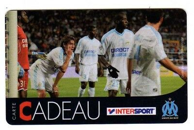 Jolie carte cadeau INTERSPORT Olympique de Marseille voir photo